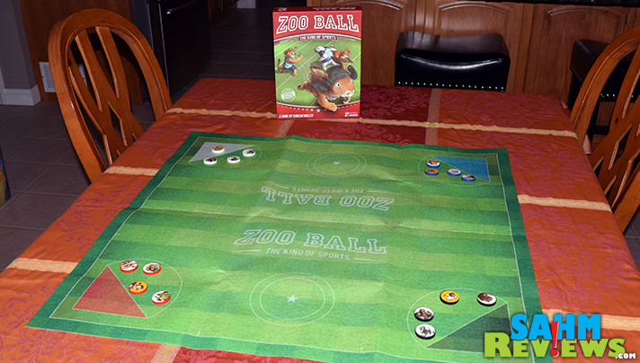 While we love learning new things from difficult board games, sometimes we want to play just for fun. Zoo Ball by Osprey Games gave us that chance! - SahmReviews.com