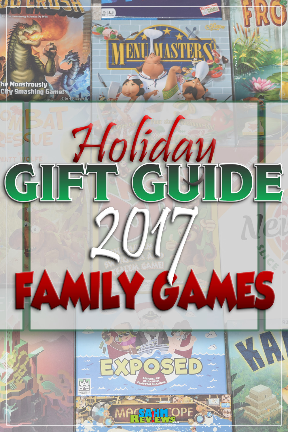 There aren't many things more fun than sitting down with family and playing a great game. Here are a handful of ideas in our annual Gift Guide! - SahmReviews.com
