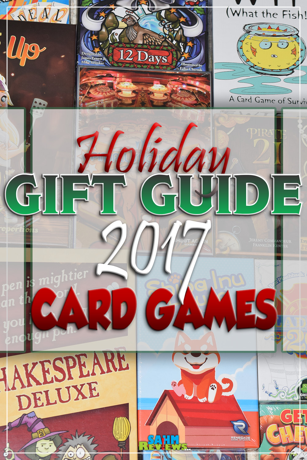 There aren't many things more fun than sitting down with family and playing a great card game. Here's a handful of ideas in our annual Gift Guide! - SahmReviews.com