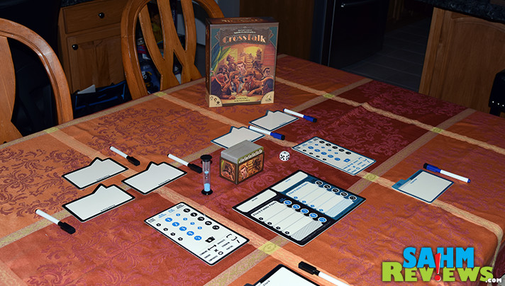 It's been a while since we've seen something new in the party game category. CrossTalk by Nauvoo Games turns the word-guessing genre on its head! - SahmReviews.com