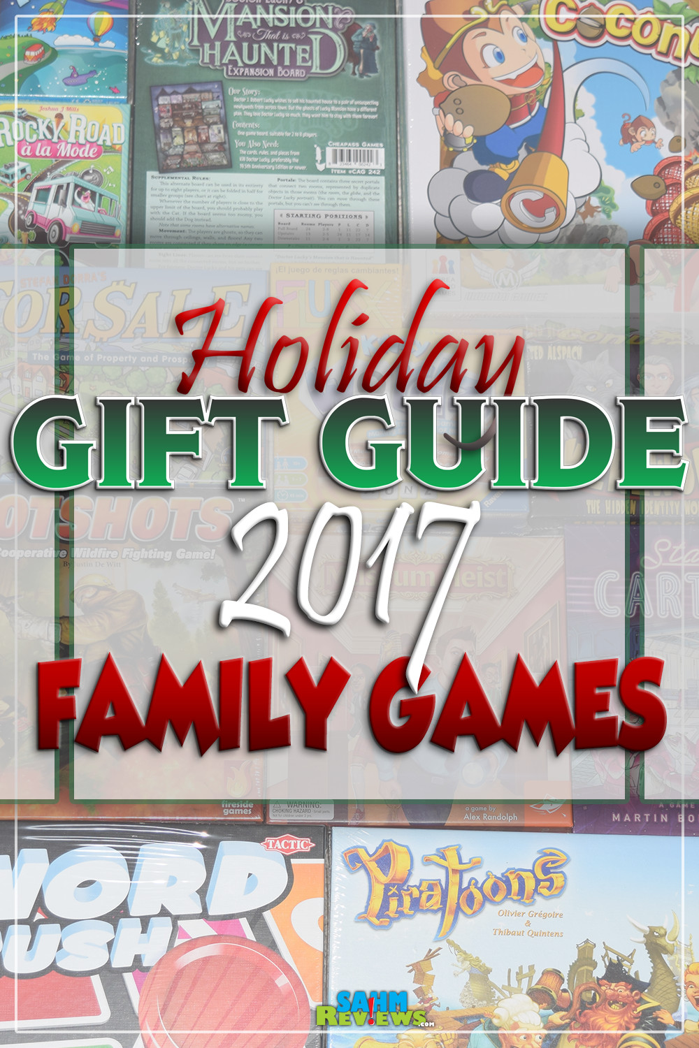 There aren't many things more fun than sitting down with family and playing a great game. Here's a handful of ideas in our annual Gift Guide! - SahmReviews.com