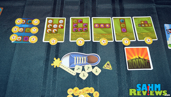 Making kids games that are fun for adults is the goal of Kids Table Board Gaming with Food Fighters and Problem Picnic Attack of the Ants card games. - SahmReviews.com