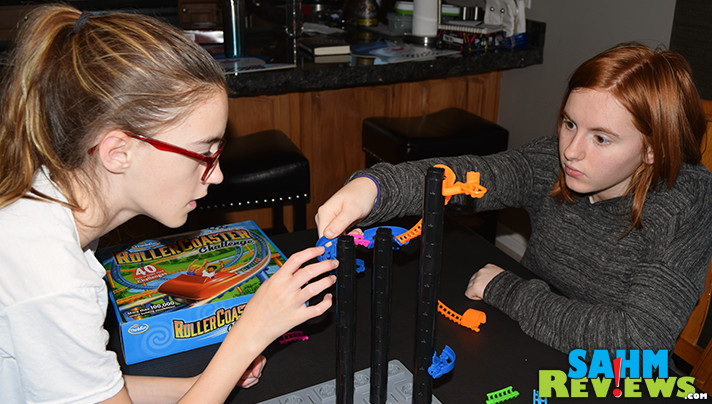 You won't be as scared of that roller coaster after you've built your own in ThinkFun's Roller Coaster Challenge! It is 2017's hot puzzle game! - SahmReviews.com
