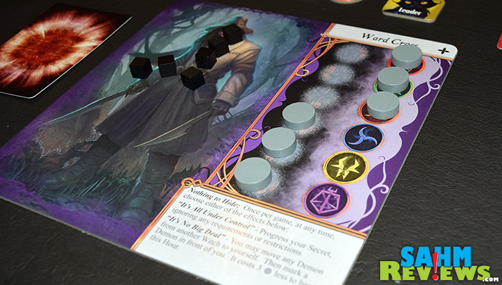 Our fourth entry into our series about recent games sporting a witch theme is the brand new Approaching Dawn: The Witching Hour by WizKids. This cooperative game will certainly get a LOT of play! - SahmReviews.com