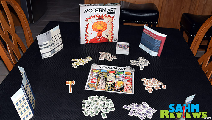 Modern Art by CMON has been around for a while. Read more to find out what educational subjects are covered while simply playing a great game! - SahmReviews.com