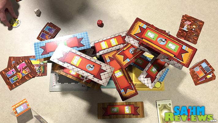 Rhino Hero Super Battle from HABA may be marked for ages as young at 5, but don't be fooled. It's a fantastic dexterity game for all ages. - SahmReviews.com