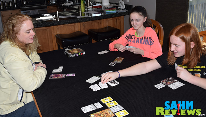 We tried out a prototype of Bemused at Origins Game Fair last year. It is finally on the shelves and we're playing at home! Check out this mean card game by Devious Weasel Games! - SahmReviews.com