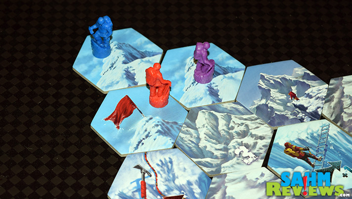 It's a snow day both inside and out! We took advantage of some time off school to play a round of Calliope Games' Dicey Peaks instead of shoveling the driveway! - SahmReviews.com