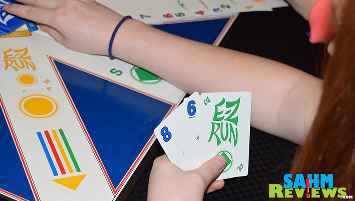 It's a little like a 4-player version of solitaire. This week's Thrift Treasure is the 80's game E-Z Run by Metatron International! - SahmReviews.com