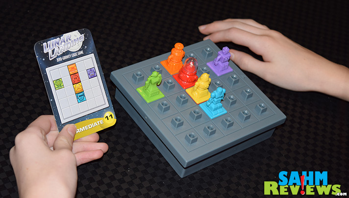 This time ThinkFun's newest puzzle reminded us of the classic game, Ricochet Robot. But Lunar Landing is specifically for one player only. Could we solve it? - SahmReviews.com
