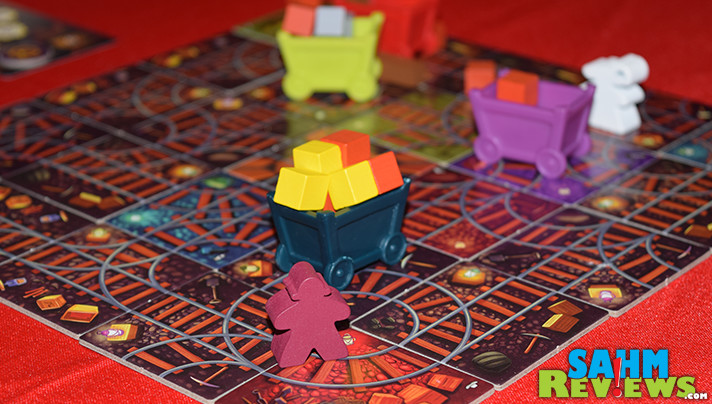 One Free Elephant's Ore-Some is unique in that building the board is part of the game itself! Find out what else you do during this 4-player game by reading more on SahmReviews.com!
