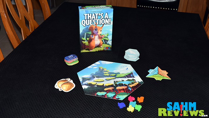 That's a Question by Czech Games Edition is by well-known hobby game designer Vlaada Chvatil. How did he do with this party game? Does it live up to Codenames? - SahmReviews.com