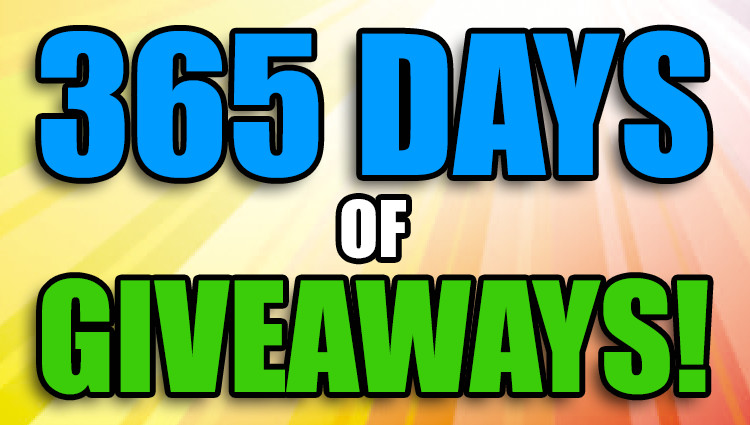 365 Days of Giveaways! – Day 1