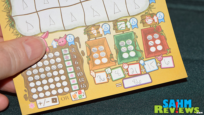 Plant a garden, feed your pig and see if you can earn the most at the market in Harvest Dice from Grey Fox Games. - SahmReviews.com