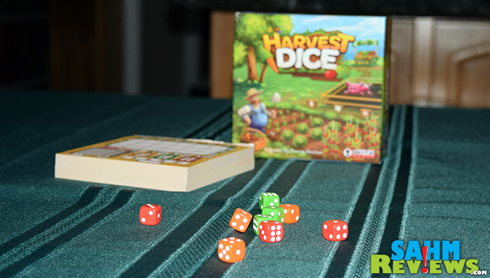 Plant a garden, feed your pig and see if you can earn the most at the market in Harvest Dice from Grey Fox Games.