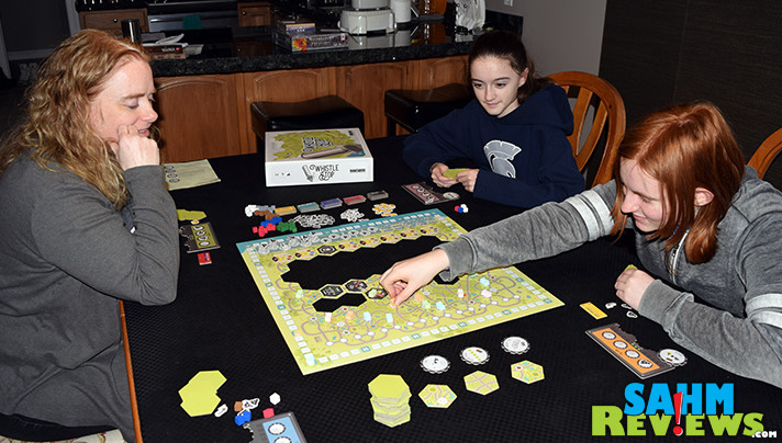 Westward bound trains are paving the way. Establish routes, earn resources and invest in railroads in Whistle Stop from Bezier Games. - SahmReviews.com