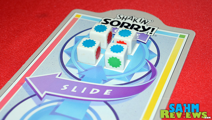 This isn't the Sorry! you had as a child. It's 100% dice rolling and plays a lot quicker than the classic. Find out more about Shakin' Sorry at SahmReviews.com!