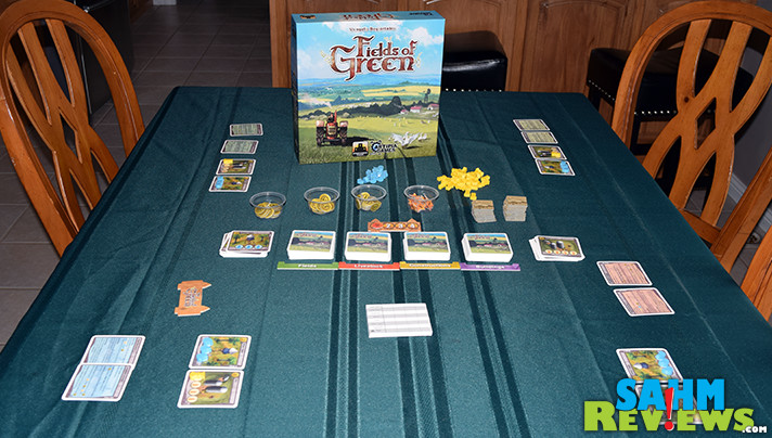 Because we're in Iowa, we have an affinity for farm-themed games. Fields of Green by Stronghold Games fits perfectly into the genre and is now a permanent part of our collection! - SahmReviews.com