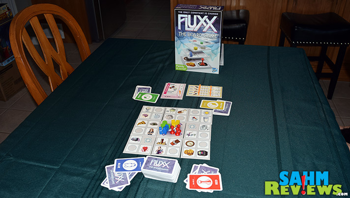 Looney Labs converted their wildly popular card game into Fluxx The Board Game. - SahmReviews.com