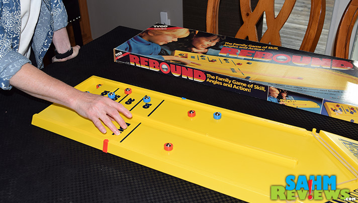 Another toy/game from our youth! This copy of Rebound by Tyco was sitting at our Goodwill just waiting for us to find it. Cleaned it up nicely and works as good as new! - SahmReviews.com