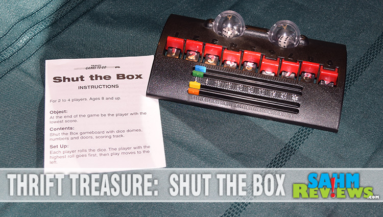 Thrift Treasure: Travel Shut the Box Game