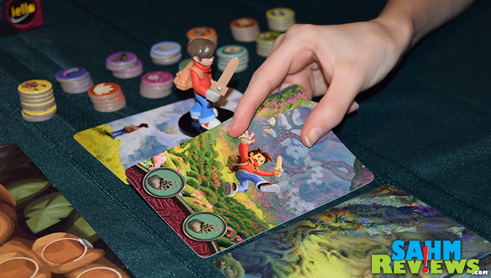 If you're not any good at memory games, The Mysterious Forest by iello might just be your solution. You can count on the other players' memory ability and share in the win! - SahmReviews.com