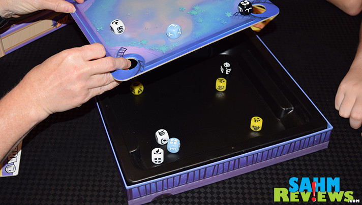 This is the first time we've been asked to flick dice as part of a game. Kung-Fu Zoo uses that feature to position and knock out your opponents! - SahmReviews.com