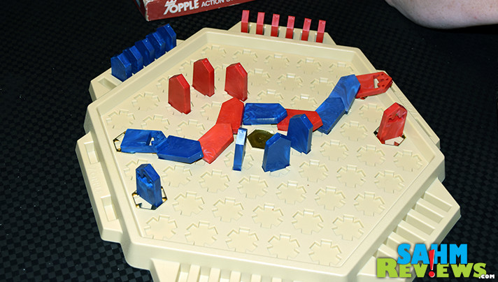 After a dry spell looking for games at our Salvation Army store, we finally hit the jackpot with Kenner's Topple. Find out why we were so excited to buy it! - SahmReviews.com