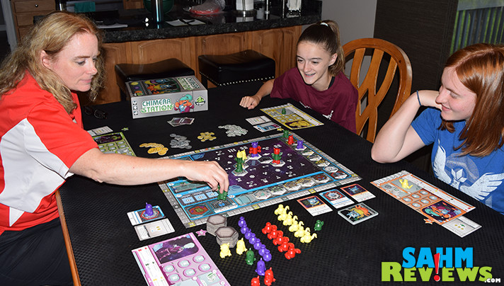 One of the more family-friendly space-themed games to hit the market in some time. Tasty Minstrel Games' Chimera Station is in our permanent collection! - SahmReviews.com