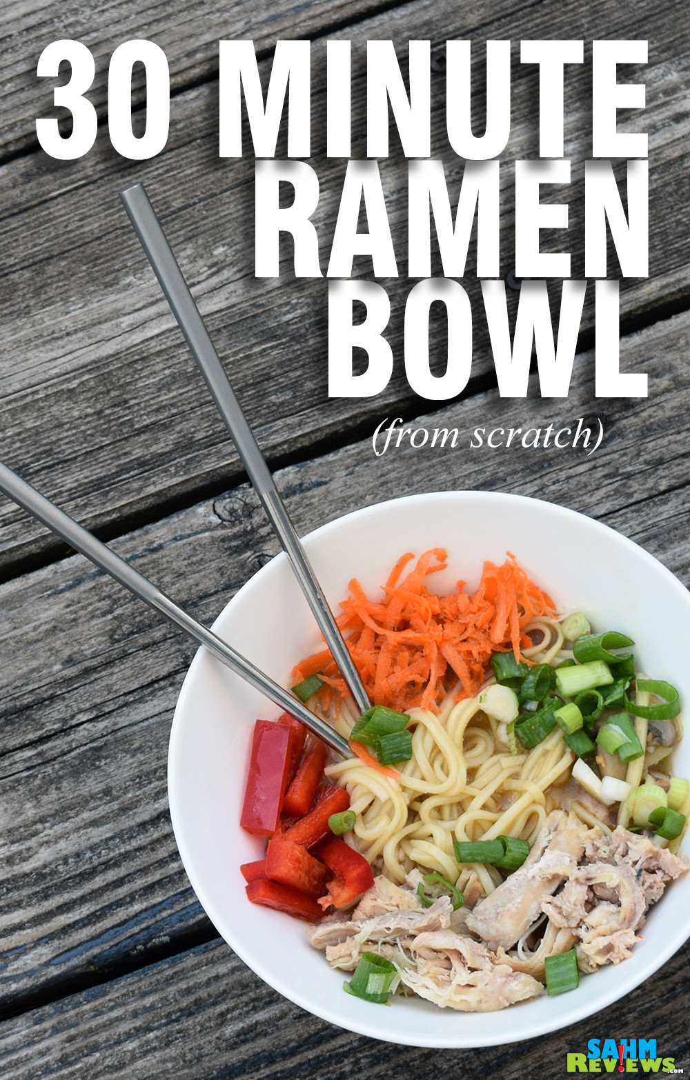 Deliciousness! Try this 30-Minute Chicken Ramen bowl recipe using the Mealthy MultiPot Pressure Cooker. - SahmReviews.com
