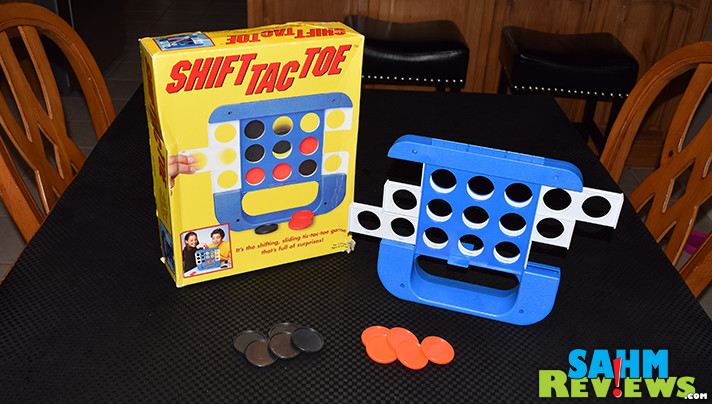 Shift Tac Toe turned out to be more than just an expensive version of Tic-Tac-Toe. It combines elements of Connect 4 and creates a whole new challenge! - SahmReviews.com