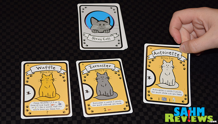 Cat ownership isn't a prerequisite to enjoy AEG's new card game, Cat Lady. Plus, it is much easier than having to deal with fur balls all the time! - SahmReviews.com