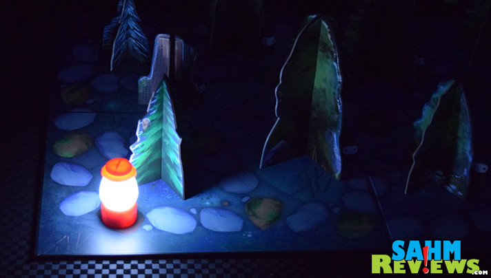 In Shadows in the Forest, it's the first time we've ever been asked to play a board game in complete darkness. We promise we're not leading you down a path! - SahmReviews.com