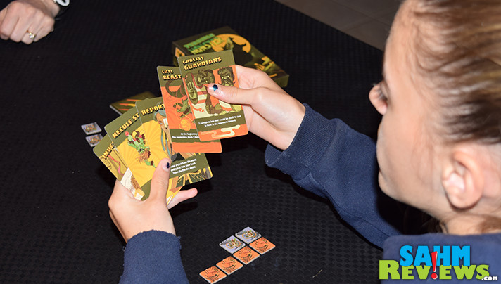 It plays quick enough to get a game done inbetween Halloween visitors! Check out what we thought of Terrible Monster by Sweet Lemon Publishing! - SahmReviews.com