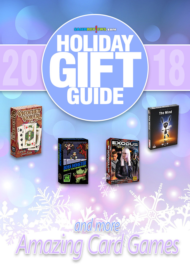 Looking for family gift ideas? Games are great for bonding, entertainment and education. Our annual Gift Guide features several ideas for card games.