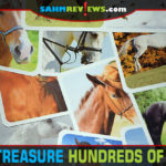 Instead of buying her a pony, check out this game by Ravensburger we found at thrift. Hundreds of Horses might just be the next best thing! - SahmReviews.com