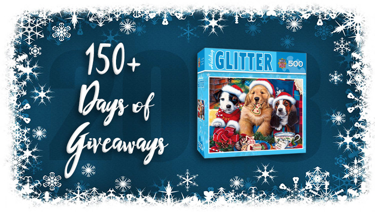 Holiday Glitter Santa Paws Puzzle Giveaway