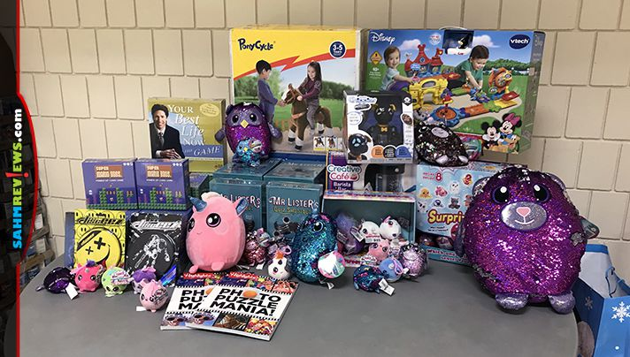 The 2018 holiday charity drive update: Around $20,000 worth of Christmas donations delivered to the University of Iowa Stead Family Children's Hospital and local angel tree programs. - SahmReviews.com