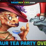 Dinosaur Tea Party by Restoration Games is a modern remake of the classic game of Whosit?. Find out how they made it appropriate for 2018! - SahmReviews.com
