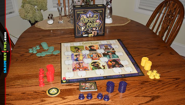A combination of deduction and sound betting decisions are needed to claim victory in Cursed Court game from Atlas Games. - SahmReviews.com
