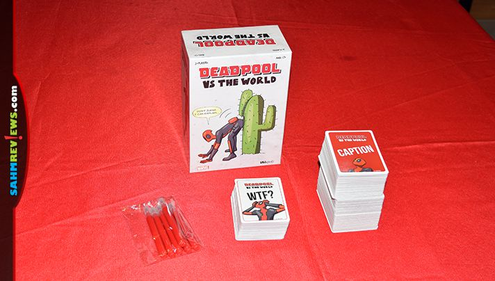 It's not as R-rated as the movie was. Deadpool vs. The World by USAopoly is a new twist on the Apple to Apples genre where you fill in the blanks! - SahmReviews.com