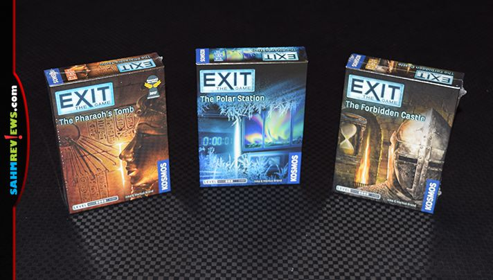 With an affordable pricetag and multiple escape room puzzle games, EXIT game series from Thames & Kosmos is excellent for game night. - SahmReviews.com