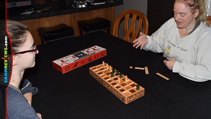 We're used to finding old games at thrift. Little did we know we'd find something that is a recreation of one from 5,000 years ago! Check out Senet! - SahmReviews.com
