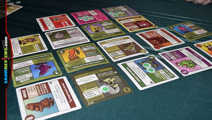 Squirmish game from Gamewright is a card battle game that incorporates humor. - SahmReviews.com