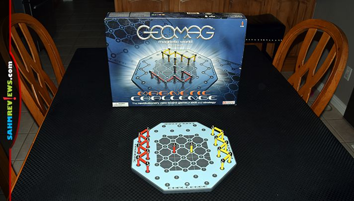 Back in 2004, Geomag issued their Magnetic Challenge game using pieces from their construction sets. We found a copy at thrift! Is it a keeper or not? - SahmReviews.com