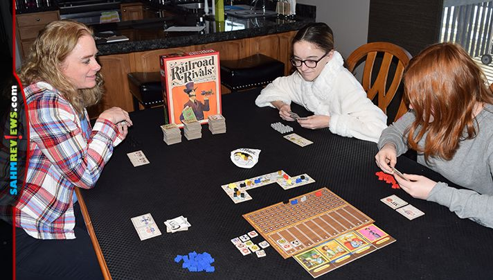 We enjoy long games, but our family can't always carve out that much time. Railroad Rivals by Forbidden Games that offers a ton of strategy in only an hour! - SahmReviews.com