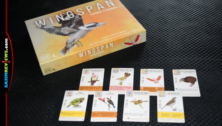 Discover a whole new region of birds with the Oceania Expansion to Wingspan, Learn about birds as you play Wingspan from Stonemaier Games. - SahmReviews.com