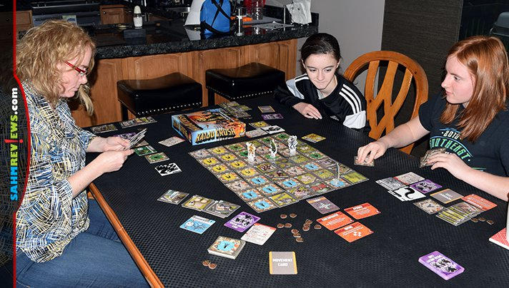 Playing board games as a family helped Madison learn terms that she wasn't familiar with. Kaiju Crush by Fireside Games introduced her to a new film genre! - SahmReviews.com