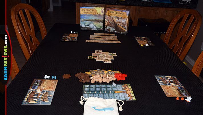 Participate in the historic whaling trade by playing New Bedford game from Greater Than Games. - SahmReviews.com