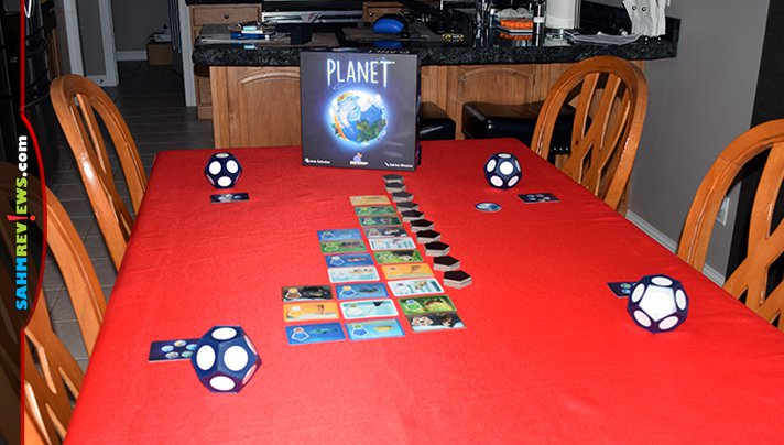 Create your own world it in 30 minutes playing Planet game from Blue Orange Games. - SahmReviews.com